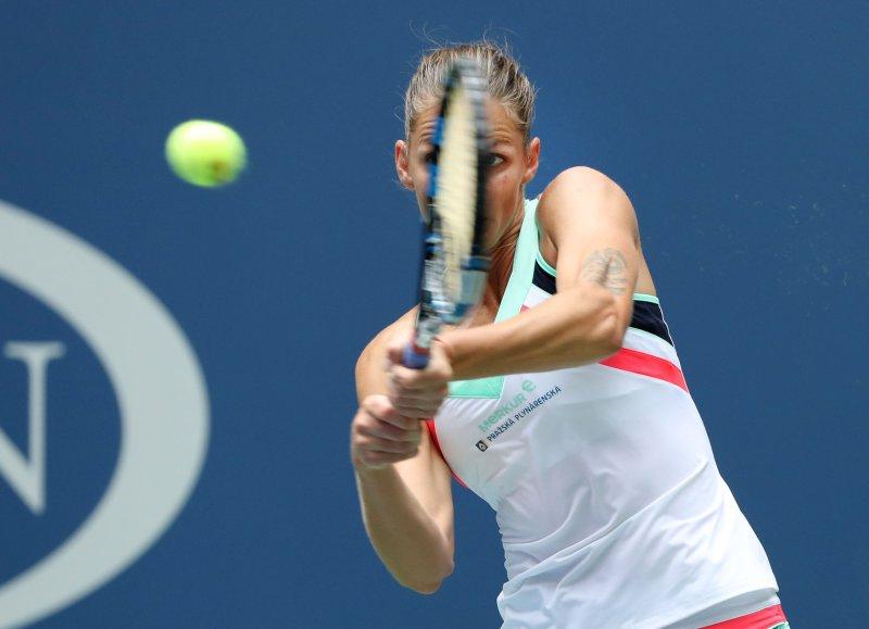Karolina Pliskova advanced yet again at the U.S. Open on Saturday. Photo by Monika Graff/UPI