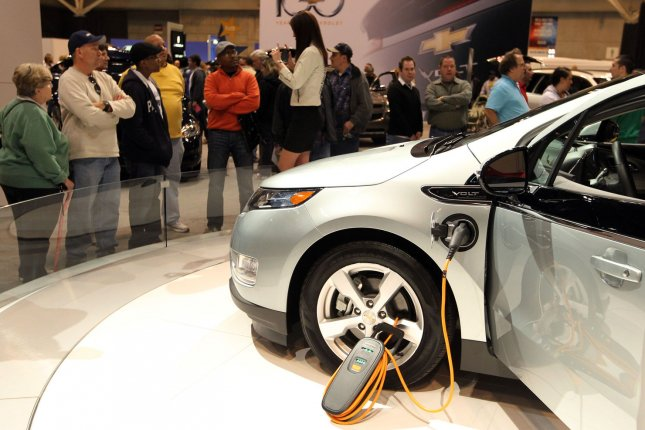 The pace at which the electric vehicle market is expanding could start to eat into global oil demand in the next few years, an energy consultant group said. File photo by Bill Greenblatt/UPI.