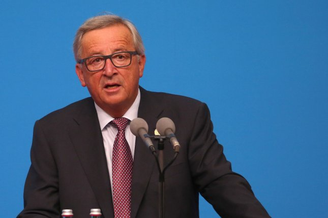 European commissioners take climate message from President Jean-Claude Juncker on the road. File Photo by Stephen Shaver/UPI