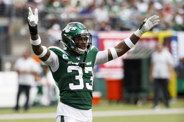 New York Jets safety Jamal Adams (pictured) was fined $21,056 for a hit on Baker Mayfield in Week 2. File Photo by Chris Szagola/UPI
