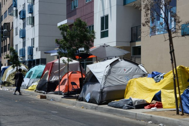 Las Vegas has one of the largest homeless populations in the United States. File Photo by Jim Ruymen/UPI