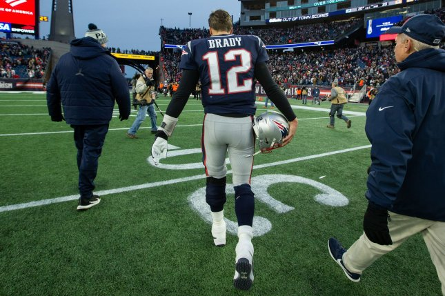 Former New England Patriots quarterback Tom Brady signed a two-year deal with the Tampa Bay Buccaneers earlier this off-season. File Photo by Matthew Healey/UPI