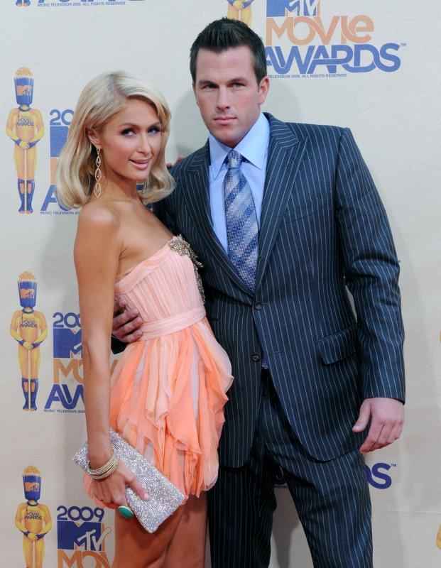 Paris Hilton and Doug Reinhardt arrive at the 18th annual MTV Movie Awards in Universal City, California on May 31, 2009. (UPI Photo/Jim Ruymen)