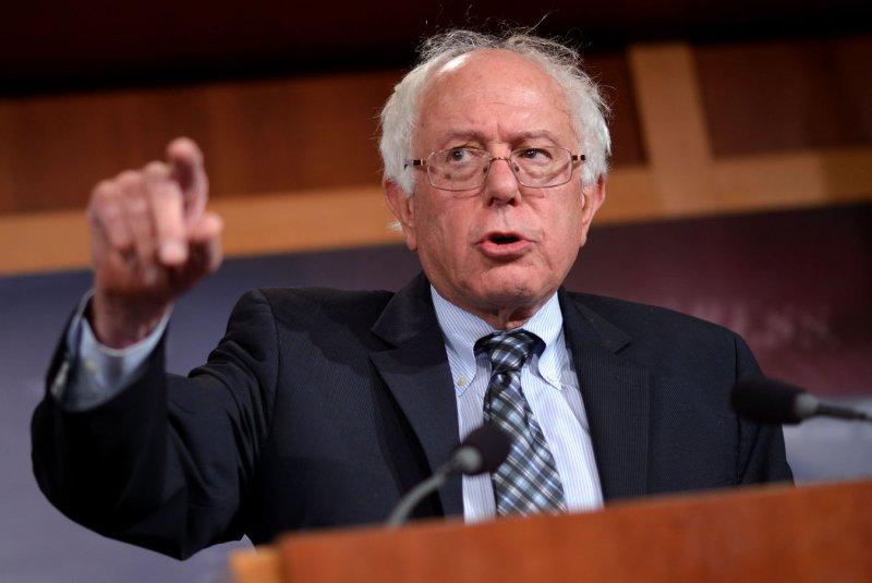 Sen. Bernie Sanders on Capitol Hill in Washington, DC. UPI/Kevin Dietsch