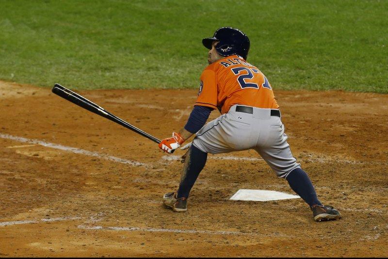 Jose Altuve of the Houston Astros. Photo by Mike Stobe/UPI