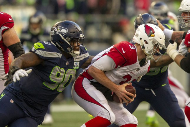 Seattle Seahawks defensive lineman Jarran Reed (90) is eligible to take part in practices and preseason games. File Photo by Jim Bryant/UPI