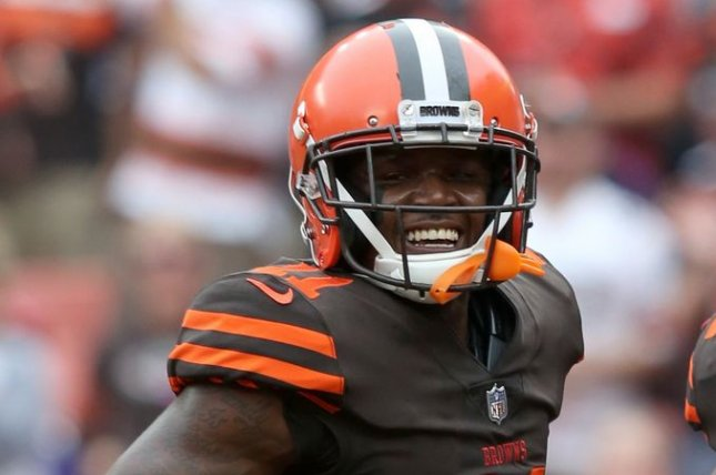 Cleveland Browns wide receiver Antonio Callaway had 43 receptions for 566 yards and five touchdowns as a rookie last season. File Photo by Aaron Josefczyk/UPI
