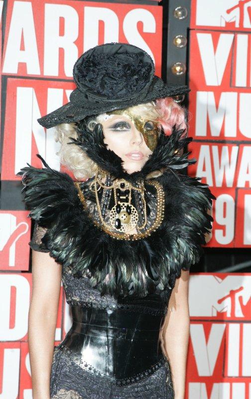 Lady GaGa arrives for the MTV Video Music Awards at Radio City Music Hall in New York on September 13, 2009. UPI/Laura Cavanaugh