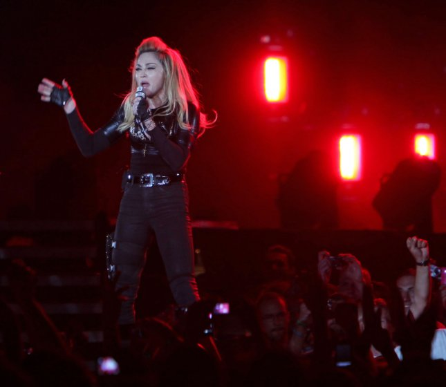 Madonna performs in concert at the Stade de France near Paris on July 14, 2012. UPI/David Silpa