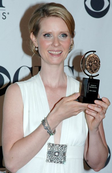 Cynthia Nixon, Best Actress Play:Rabbit Hole poses for the media after the 2006 Tony Award ceremonies held at Radio City Music Hall in New York on June 11, 2006. (UPI Photo/Ezio Petersen)