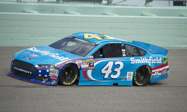 Aric Almirola conducts a practice session at the Homestead-Miami Speedway. Photo by Joe Marino-Bill Cantrell/UPI