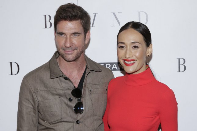 Dylan McDermott (L), pictured with Maggie Q, will appear in Ryan Murphy's Netflix drama Hollywood. File Photo by John Angelillo/UPI