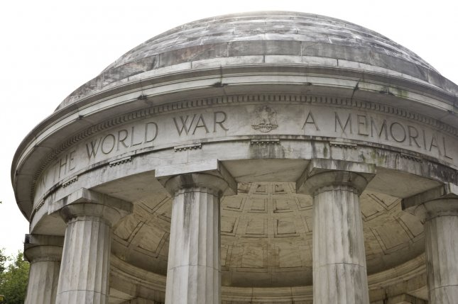 The D.C. War Memorial on the National Mall honors the D.C. residents who lost their lives in World War I. On November 11, 1918, World War I ended with the signing of the Armistice of November 11, 1918, in a railroad car in a forest in France. File Photo by Madeline Marshall/UPI