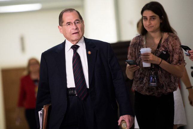 House judiciary committee Chairman Jerry Nadler, D-N.Y., scheduled the impeachment hearing for Wednesday. File Photo by Kevin Dietsch/UPI