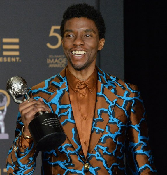 Chadwick Boseman's Friday death is being mourned by artists who knew and admired him. File Photo by Jim Ruymen/UPI