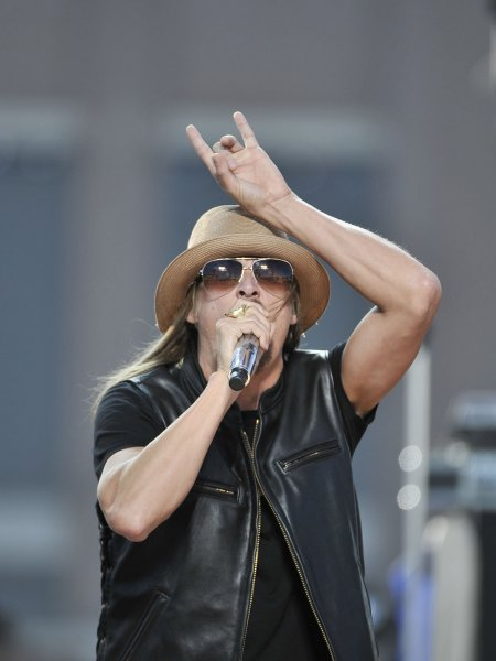 Kid Rock preforms before the Green Bay Packers New Orleans Saints opening day game at Lambeau Field on September 8, 2011 in Green Bay, Wisconsin. UPI/Brian Kersey
