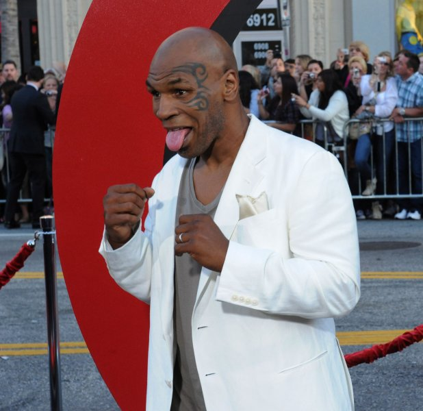 Mike Tyson, a cast member in the motion picture comedy The Hangover Part II, arrives for the premiere of the film at Grauman's Chinese Theatre in the Hollywood section of Los Angeles on May 19, 2011. UPI/Jim Ruymen