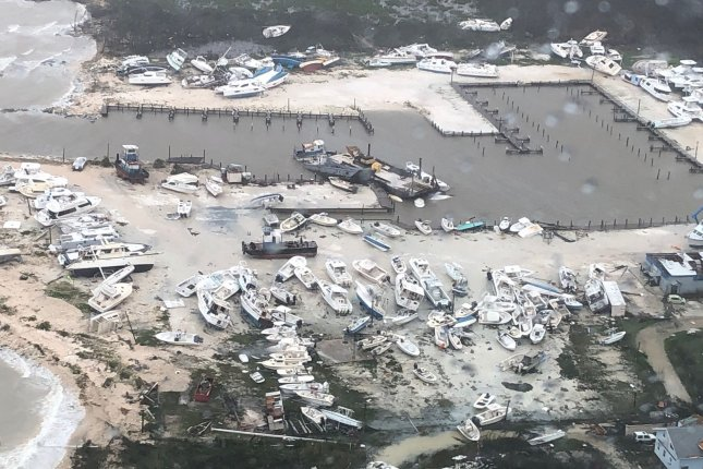 U.S Coast Guard surveys the damage of Hurricane Dorian as they continue search and rescue operations and deliver humanitarian aid in the Bahamas on Monday. Photo courtesy of the U.S. Coast Guard