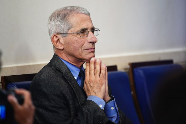 Dr. Anthony Fauci, director of the National Institute of Allergy and Infectious Diseases warned Tuesday that the COVID-19 pandemic is not yet over, describing the quickly spreading virus as his worst nightmare. File Photo by Jim Lo Scalzo/UPI
