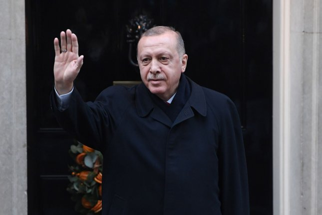 The U.S. Department of State issued a statement Tuesday strongly objecting to Turkish President Recep Tayyip Erdogan meeting with Hamas leaders over the weekend. File Photo by Rune Hellestad/UPI