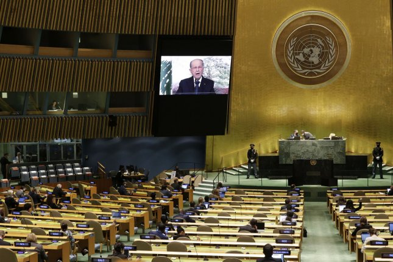 Lebanon President Michel Aoun asks U.N. for help amid crises, looming blackout