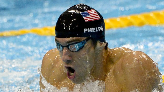 Michael Phelps competes in the men's 200-meter individual medley August 2. UPI/Ron Sachs