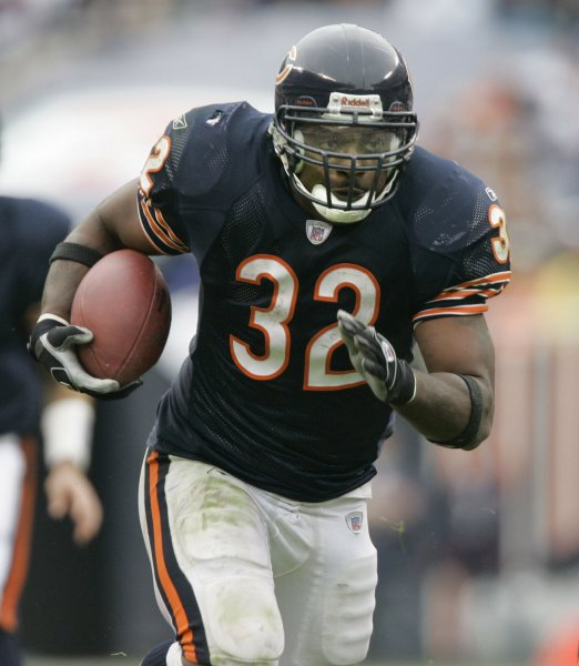 Chicago Bears running back Cedric Benson . (UPI Photo/Brian Kersey)