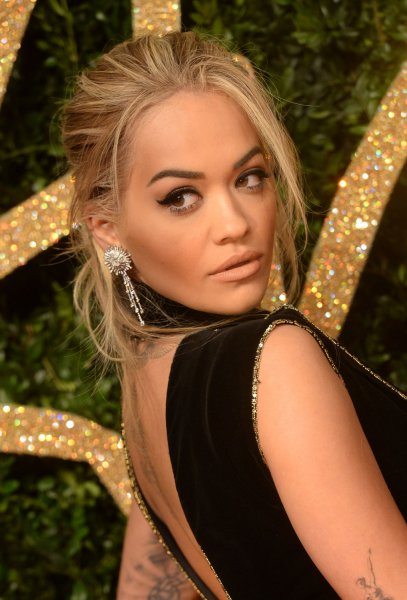 Rita Ora attends the British Fashion Awards at The Coliseum in London on November 23, 2015. The Voice UK coach filed a lawsuit against Jay-Z-owned label Roc Nation, seeking freedom from her contract. File Photo by Rune Hellestad/ UPI