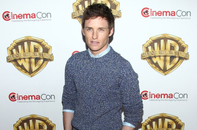 Eddie Redmayne arrives for the Warner Bros. Pictures presentation at CinemaCon 2016 in Las Vegas on April 12. The Oscar-winner is to voice the main character in the animated movie Early Man. Photo by James Atoa/UPI
