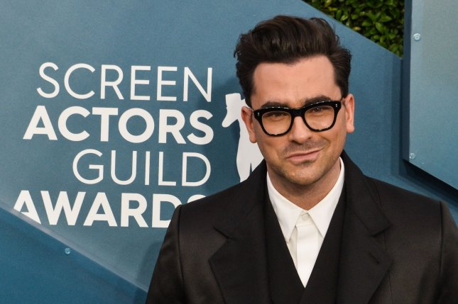 Dan Levy won three Emmy Awards for his writing, directing and acting on Schitt's Creek Sunday night. File Photo by Jim Ruymen/UPI