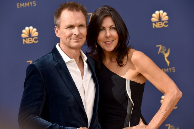 Tough as Nails host Phil Keoghan (L) and his wife Louise Keoghan attend the 70th annual Primetime Emmy Award on September 2018. Tough as Nails has been renewed for two more seasons. File Photo by Christine Chew/UPI