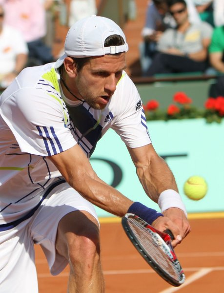 Jurgen Melzer, shown in a 2010 file photo, picked up a second-round win Thursday at the Erste Bank Open in Vienna where Melzer is a two-time defending champion. UPI/David Silpa