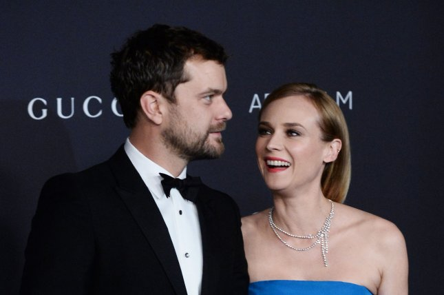 Joshua Jackson and Diane Kruger at the LACMA Art + Film gala on Nov. 7. The actor opened up about Kruger to reporters Tuesday. File Photo by Jim Ruymen/UPI