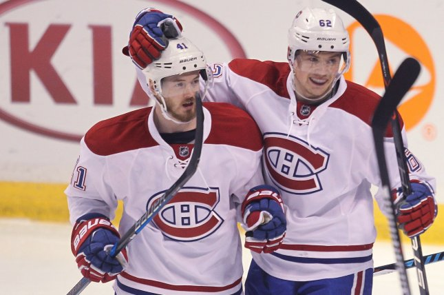 The Montreal Canadiens thought they scored the winning goal early in overtime, only to be denied. A few minutes later, there was no mistake as they claimed a 1-0 victory over the Columbus Blue Jackets on Tuesday night at the Bell Centre. File Photo by Bill Greenblatt/UPI