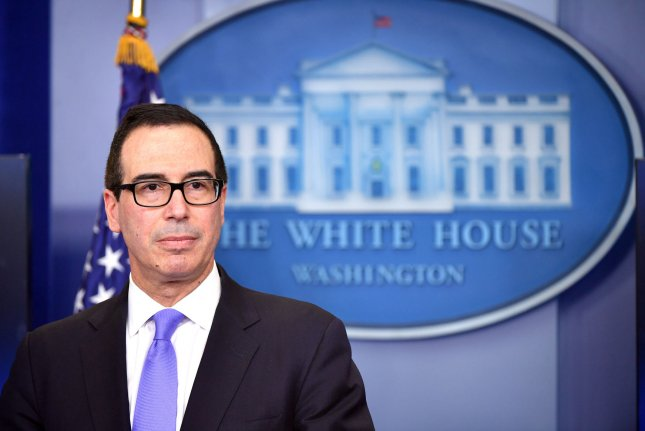 U.S. Treasury Secretary Steven Mnuchin on Monday suggested passing tax reforms before August would not be likely, but said it would occur before the end of the year, following a Republican failure to repeal and replace the Affordable Care Act, or Obamacare. File Photo by Kevin Dietsch/UPI