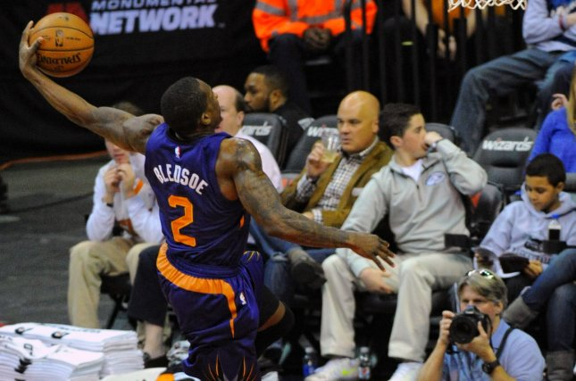 Phoenix Suns guard Eric Bledsoe (2) goes to the basket against the Washington Wizards in the first half at the Verizon Center in Washington, D.C. File photo by Mark Goldman/UPI