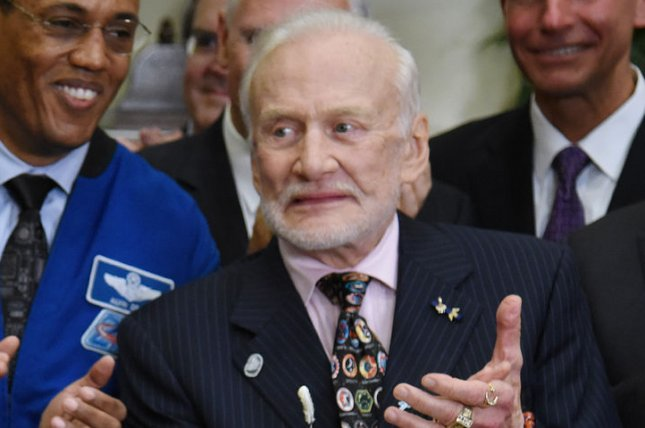 Apollo 11 astronaut Buzz Aldrin, pictured at the White House on June 30, turns 88 on January 20. File Photo by Olivier Douliery/UPI