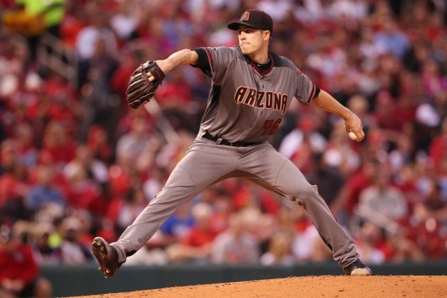 Arizona Diamondbacks starting pitcher Patrick Corbin delivers a pitch to the St. Louis Cardinals in the first inning on May 20, 2016 at Busch Stadium in St. Louis. File photo by Bill Greenblatt/UPI