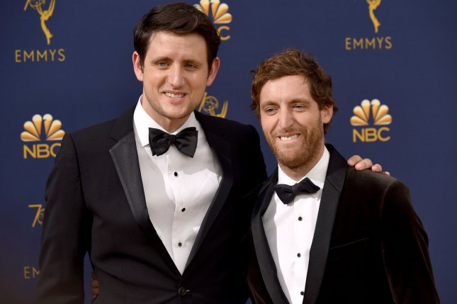 Actors Zach Woods (L) and Thomas Middleditch will appear in the sixth and final season of Silicon Valley.  File Photo by Christine Chew/UPI