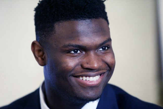 Former Duke stars Zion Williamson (pictured) and R.J. Barrett are expected to be top-three picks in the 2019 NBA Draft. File Photo by Bill Greenblatt/UPI
