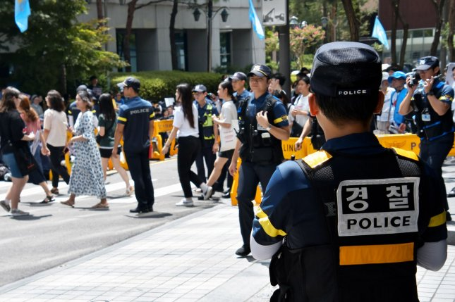 South Korean police are seeking the cooperation of the Belgian Embassy in Seoul after the Belgian ambassador's wife allegedly attacked two South Koreans at a store in Seoul. File Photo by Keizo Mori/UPI