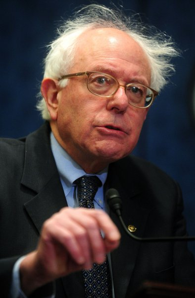 Sen. Bernie Sanders, who controversially posted trading positions in oil and natural gas. UPI/Kevin Dietsch