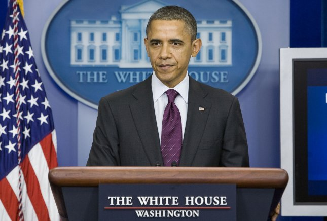 Claims President Barack Obama was born outside teh United States refuse to die. A federal appeals court said Thursday so-called birthers can't take President Obama to court over claims he wasn't born in the United States. File photo dated Dec. 20. UPI/Kristoffer Tripplaar/Pool