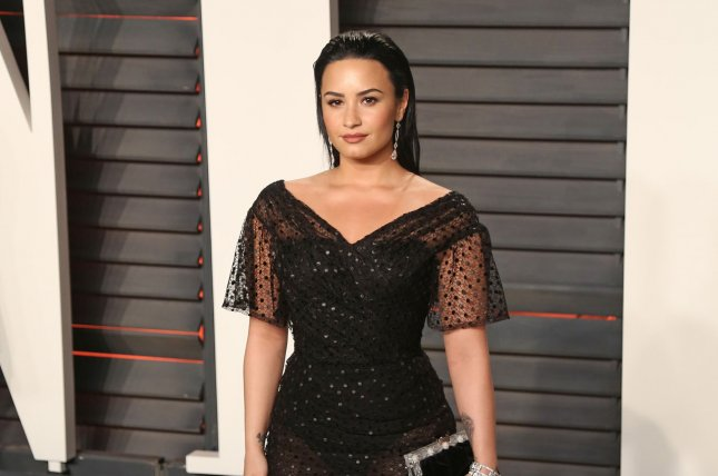 Demi Lovato attends the 2016 Vanity Fair Oscar Party in Beverly Hills on Sunday. Photo by David Silpa/UPI