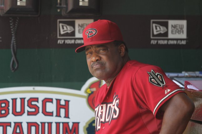 Former Arizona Diamondbacks batting coach Don Baylor sits in the dugout during a game against the St. Louis Cardinals at Busch Stadium in St. Louis on July 10, 2011. File photo by Bill Greenblatt/UPI