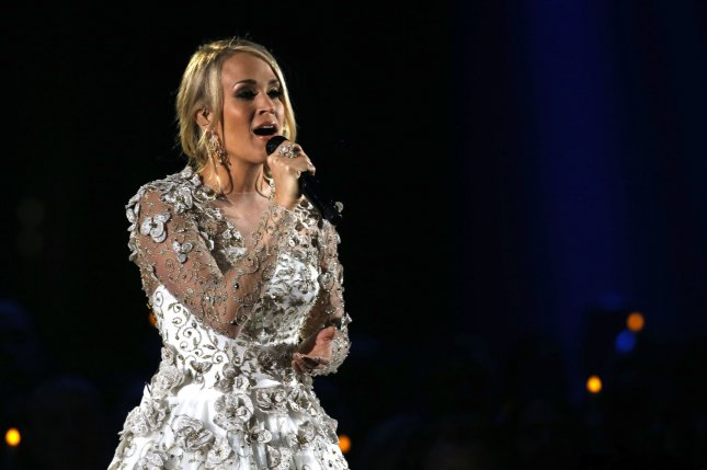 Carrie Underwood updated fans on her recovery Wednesday after breaking her wrist in a fall last week. File Photo by John Sommers II/UPI