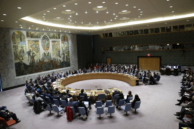 A U.N. resolution condemning Iran for violating an arms sanction against Yemen was vetoed by Russia. File Photo by John Angelillo/UPI