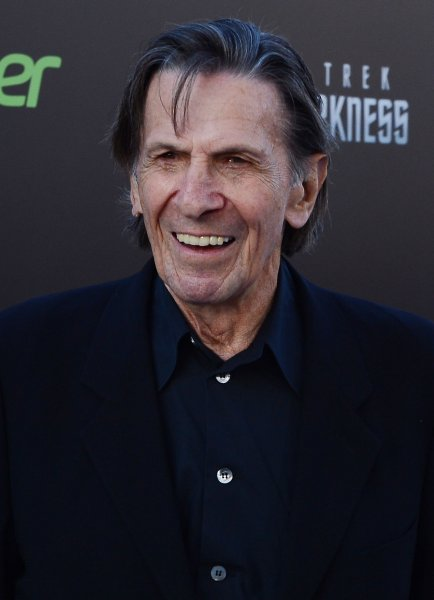 Leonard Nimoy would have celebrated his 87th birthday Monday. The actor's son, Adam Nimoy, married Star Trek: Deep Space Nine alum Terry Farrell the same day. File Photo by Jim Ruymen/UPI
