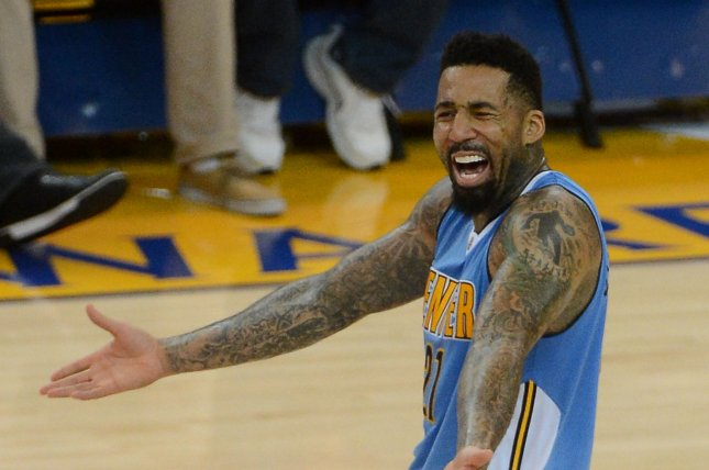 Former Denver Nuggets forward Wilson Chandler was suspended 25 games for PED use. File Photo by Terry Schmitt/UPI