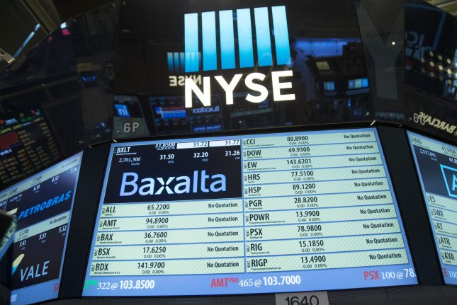 U.S. stocks were affected Monday by some concern about reopening the economy too soon. File Photo by John Angelillo/UPI